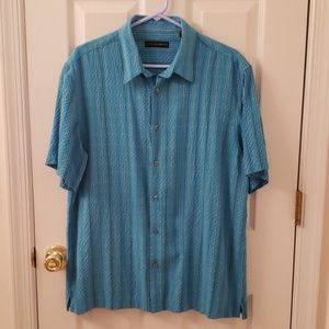 Men's Via Europa Casual Button Down SS Shirt